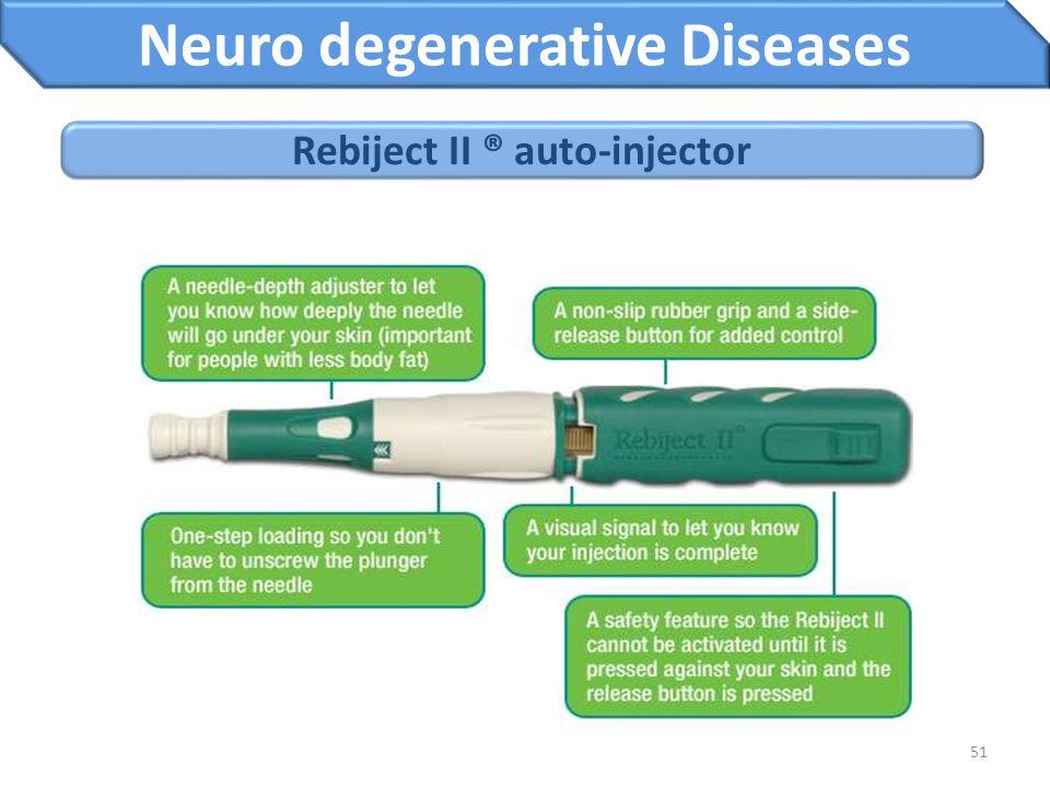 51 Rebiject II ® auto-injector Neuro degenerative Diseases