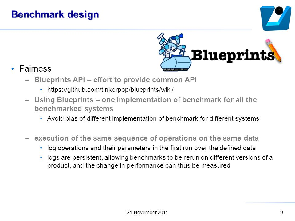 Benchmarking traversal operations over graph databases marek ciglan 9 benchmark design fairness blueprints api malvernweather Image collections