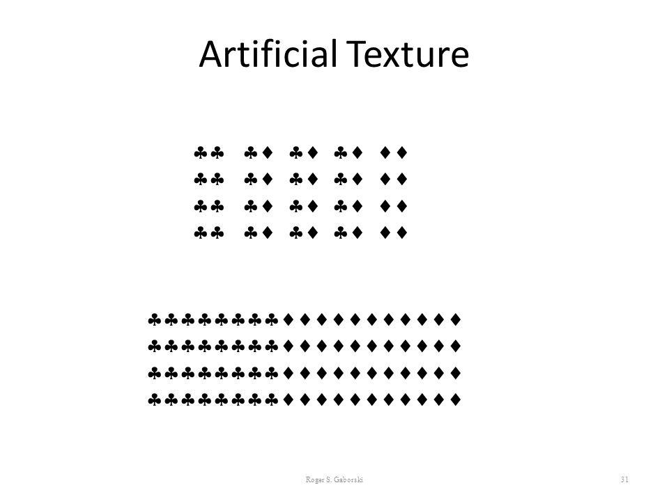 Artificial Texture 31       Roger S. Gaborski