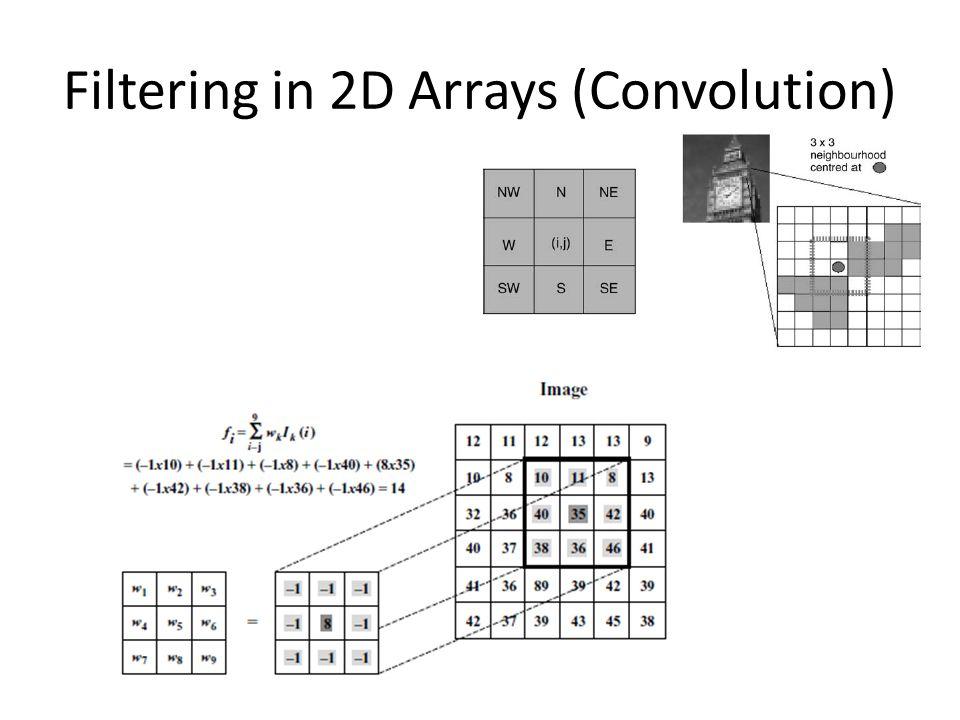 Filtering in 2D Arrays (Convolution)