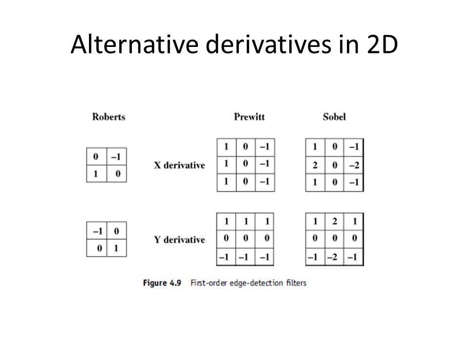 Alternative derivatives in 2D