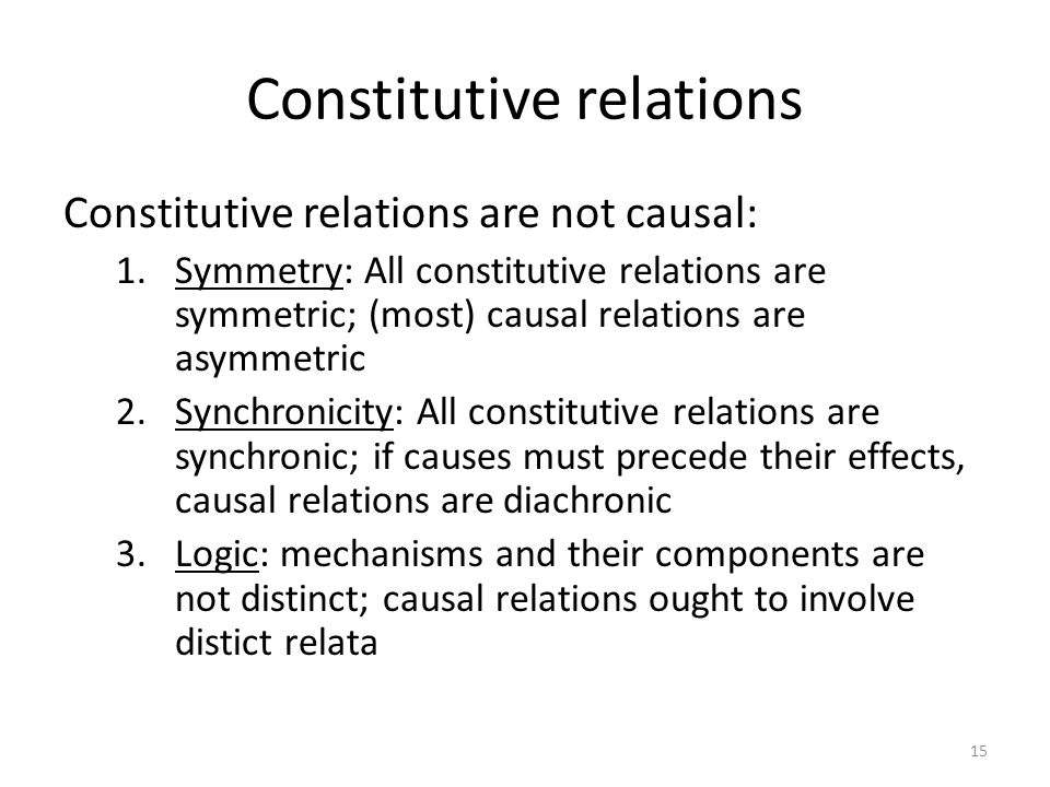Constitutive relations Constitutive relations are not causal: 1.Symmetry: All constitutive relations are symmetric; (most) causal relations are asymme