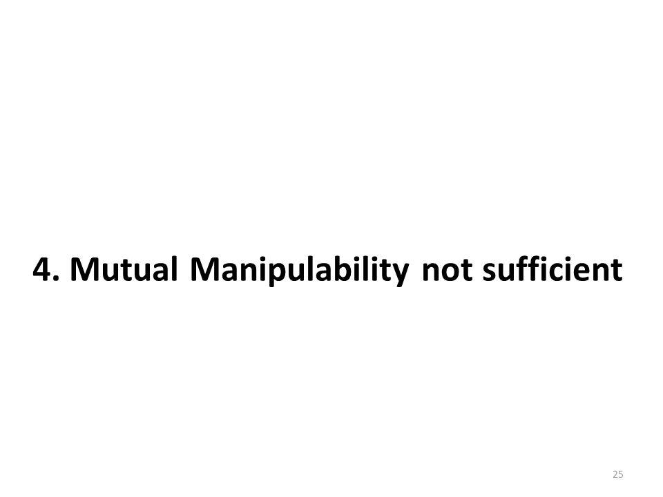 25 4. Mutual Manipulability not sufficient