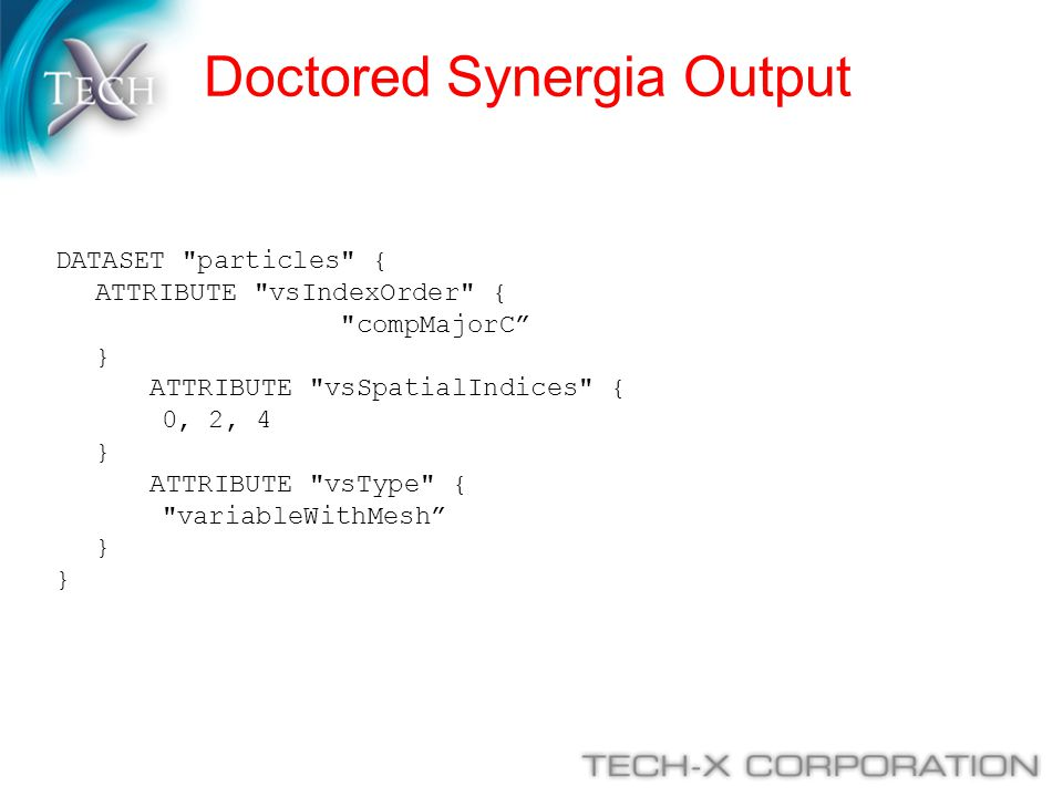 Doctored Synergia Output DATASET