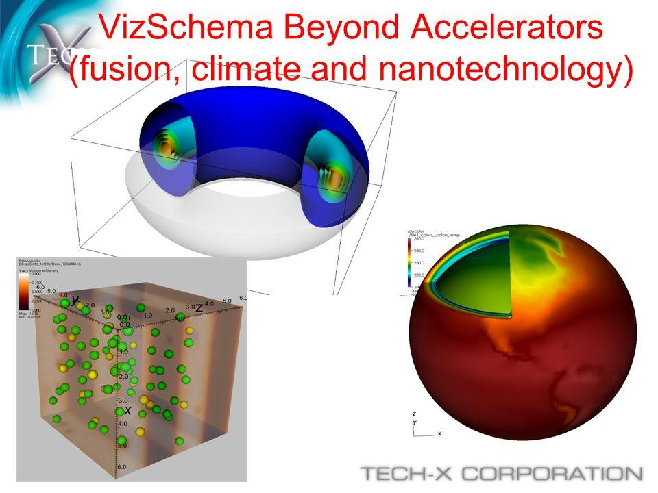 VizSchema Beyond Accelerators (fusion, climate and nanotechnology)