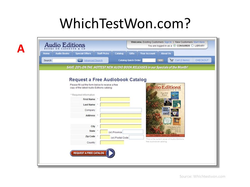 WhichTestWon.com? Source: Whichtestwon.com A