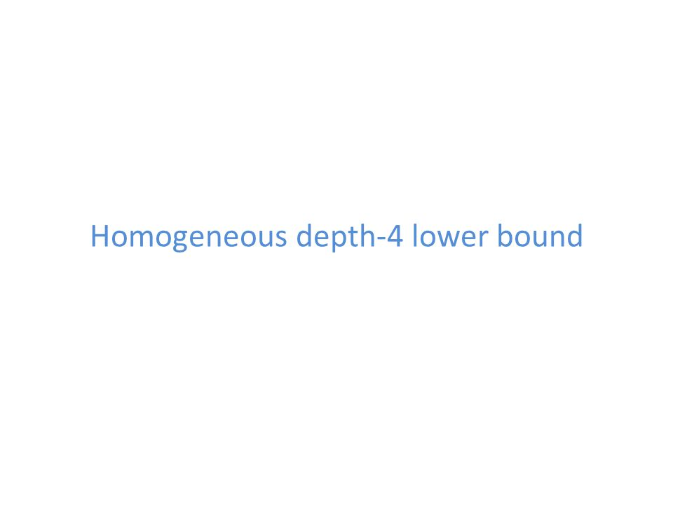 Homogeneous depth-4 lower bound