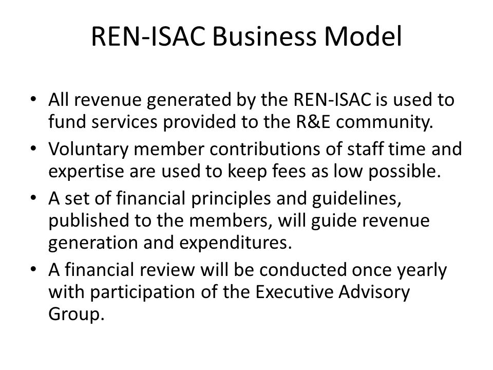 AMSAC Issues What will the evolution of the REN to a fee- for-service model mean for I2 .