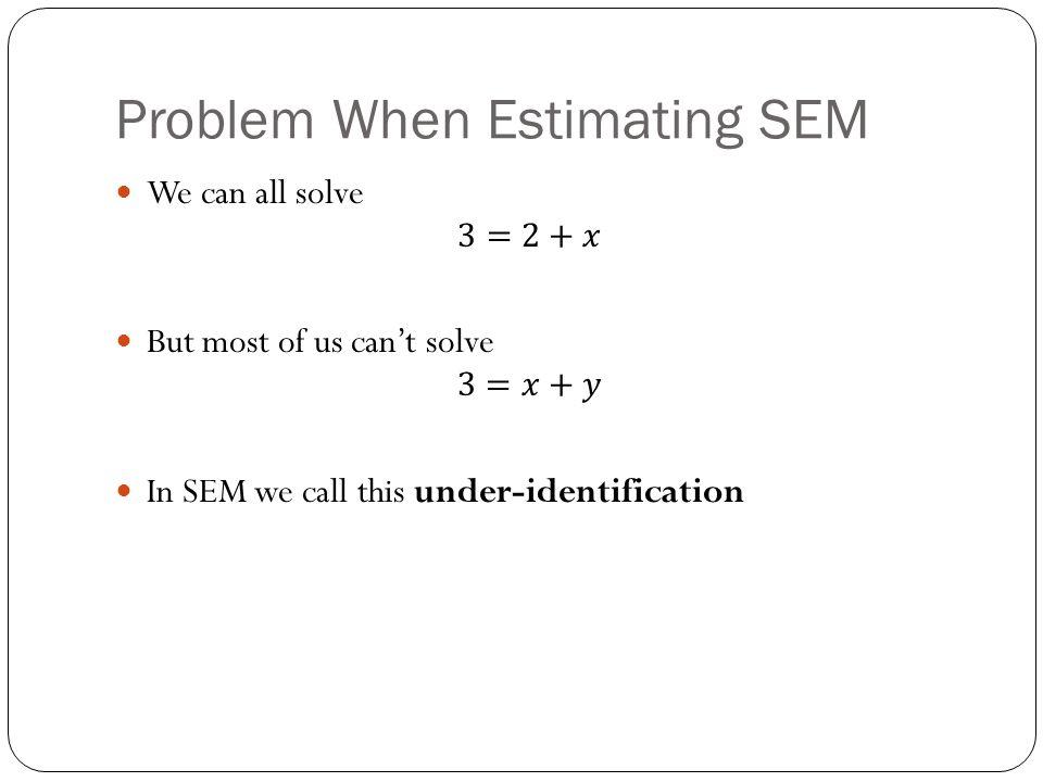 Problem When Estimating SEM