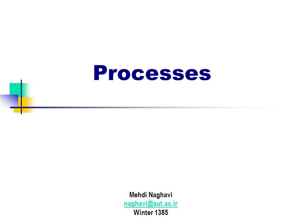 Processes Mehdi Naghavi naghavi@aut.ac.ir Winter 1385