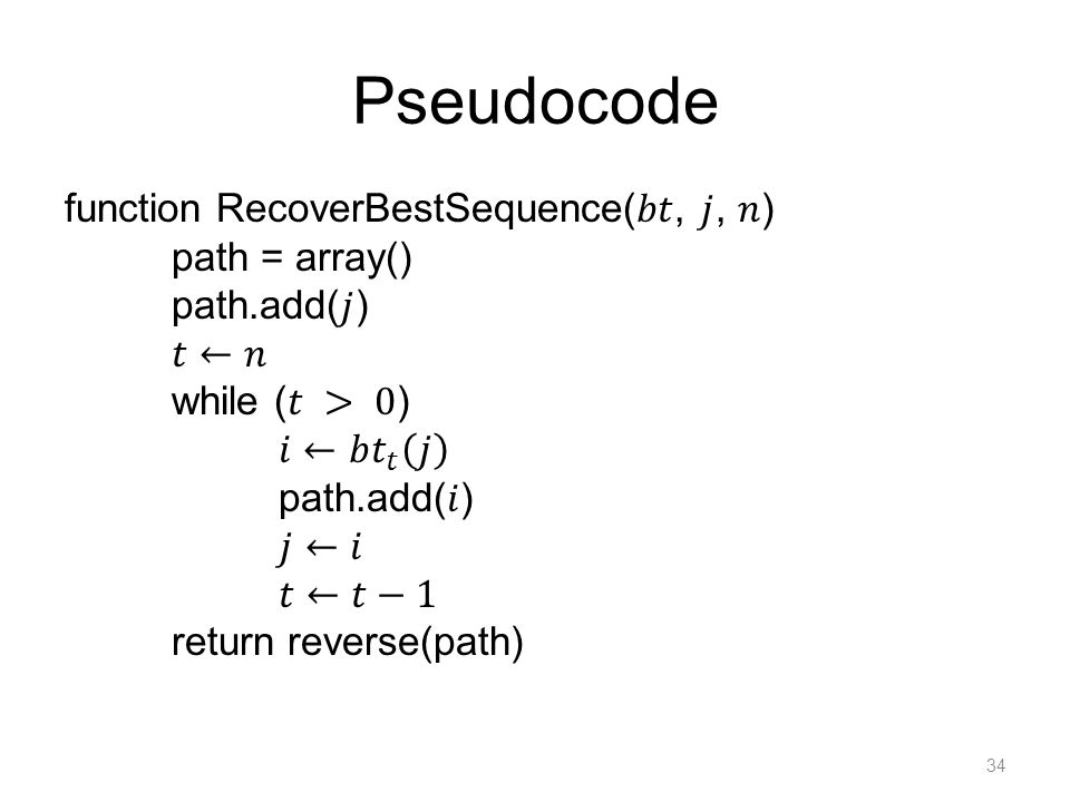 Pseudocode 34
