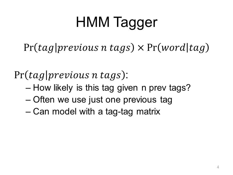 HMM Tagger 4