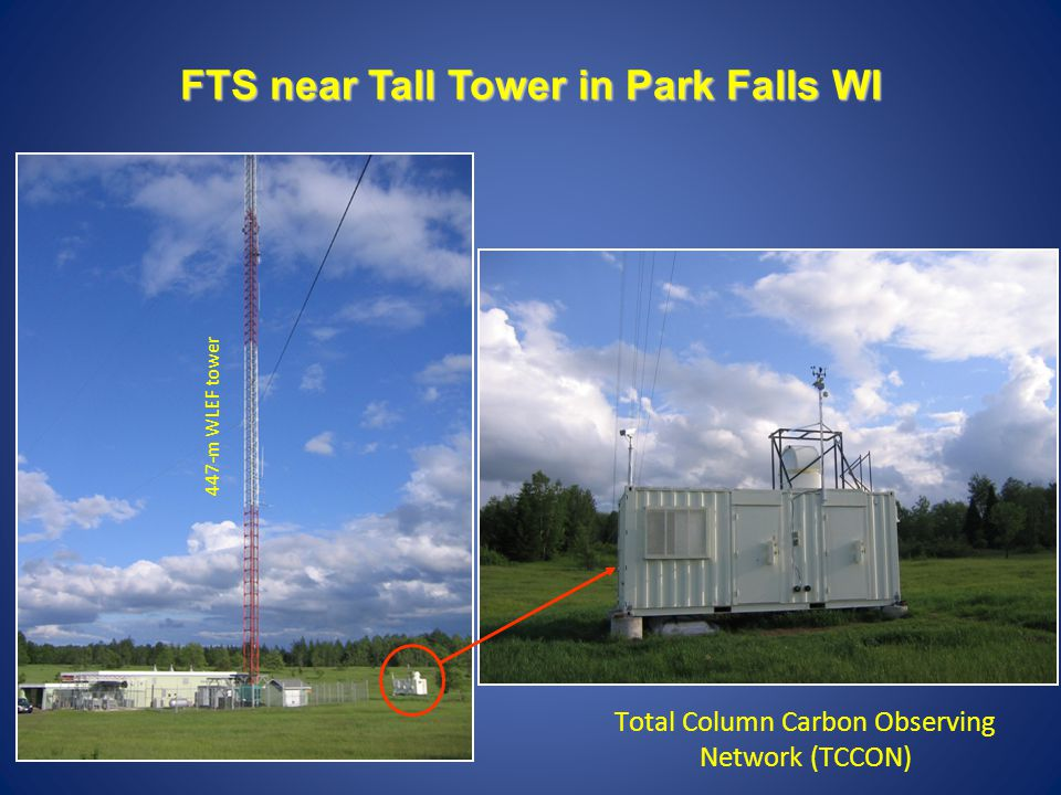 447-m WLEF tower FTS near Tall Tower in Park Falls WI Total Column Carbon Observing Network (TCCON)