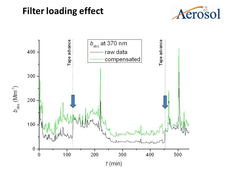 Filter loading effect