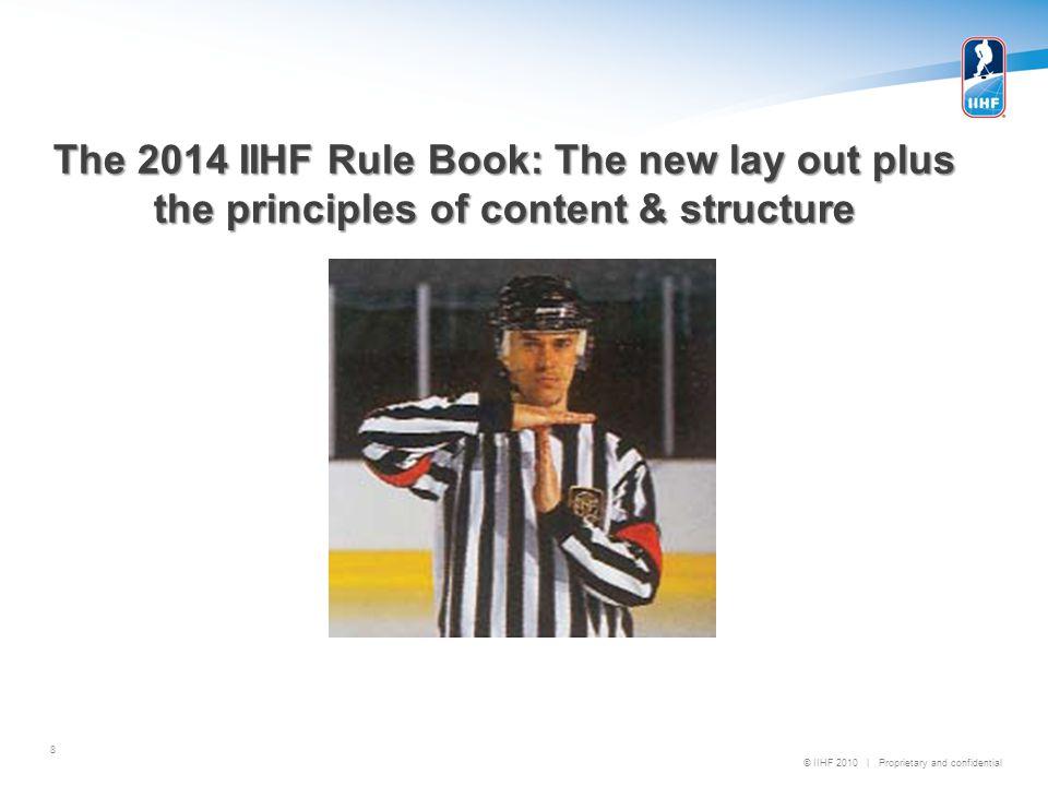 2014 IIHF HOUSEKEEPING & MINOR RULE CHANGE SUMMARY