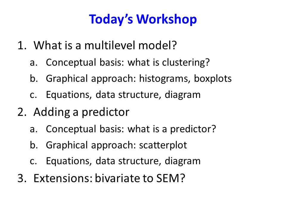 Adding a Predictor Model Matrices Y ij  1j e ij  SEM      2j X ij      Student Model Classroom Model Observed Variable Matrices
