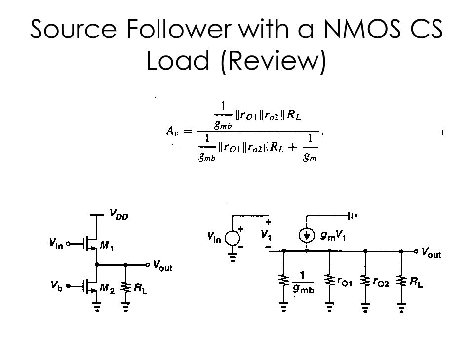 Source Follower with a NMOS CS Load (Review)