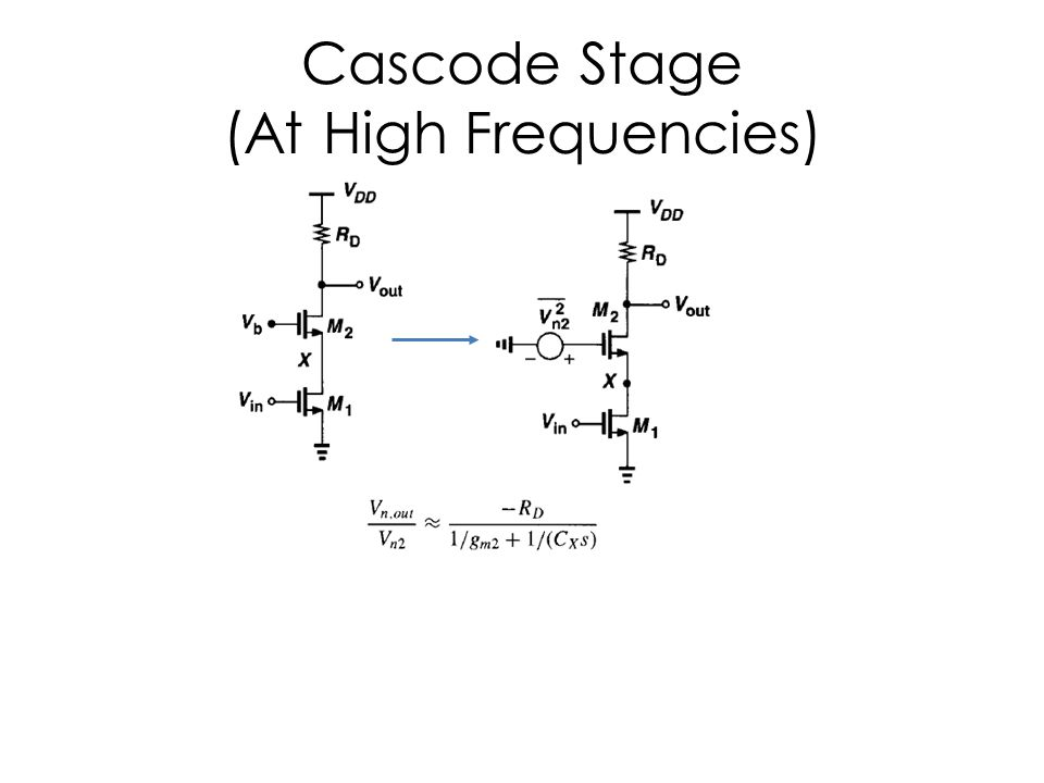 Cascode Stage (At High Frequencies)