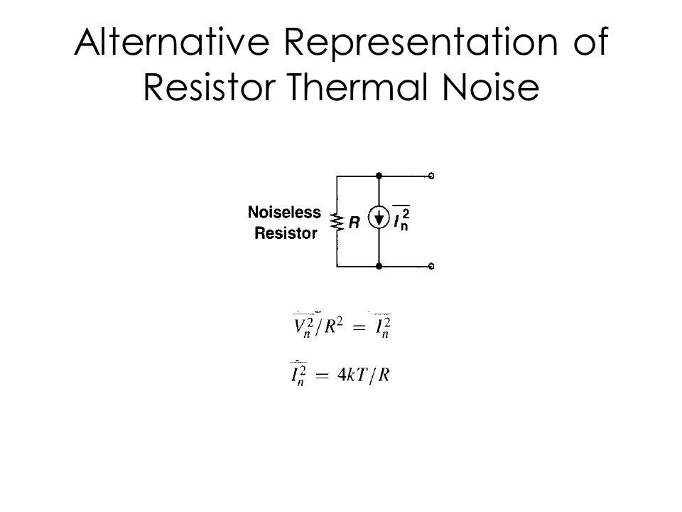 Alternative Representation of Resistor Thermal Noise