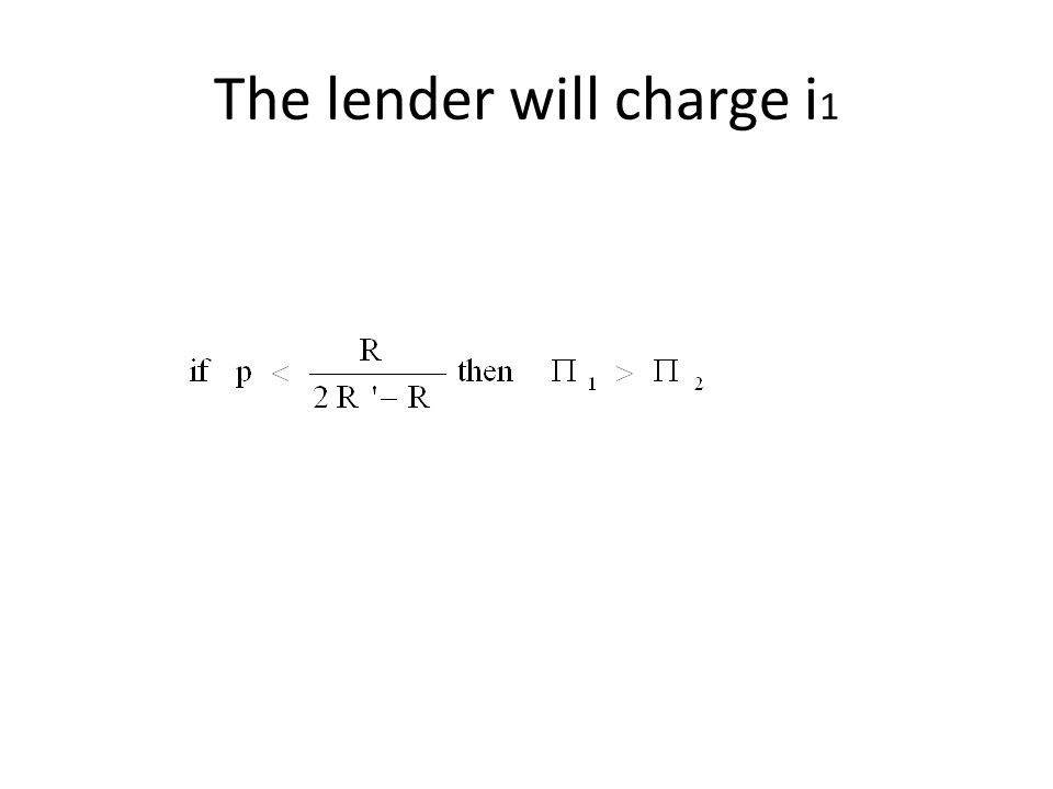 The lender will charge i 1