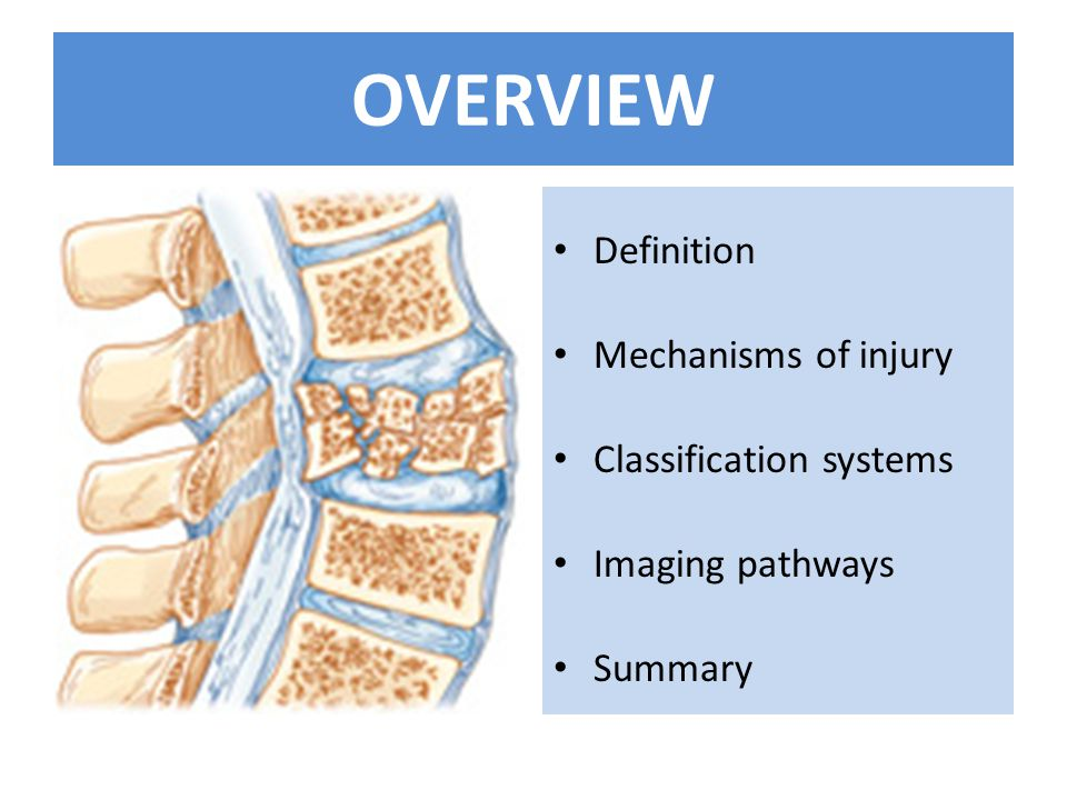 OVERVIEW Definition Mechanisms of injury Classification systems Imaging pathways Summary