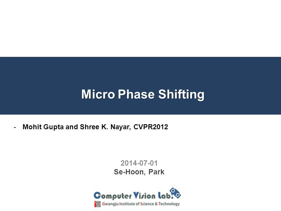 Micro Phase shifting 22 unknownknownunknownknownunknownknown