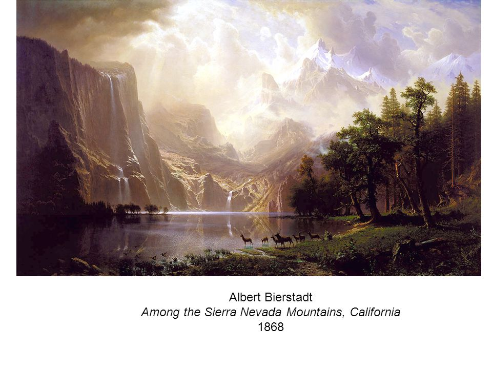 Albert Bierstadt Among the Sierra Nevada Mountains, California 1868