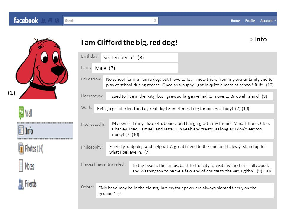 I am Clifford the big, red dog.