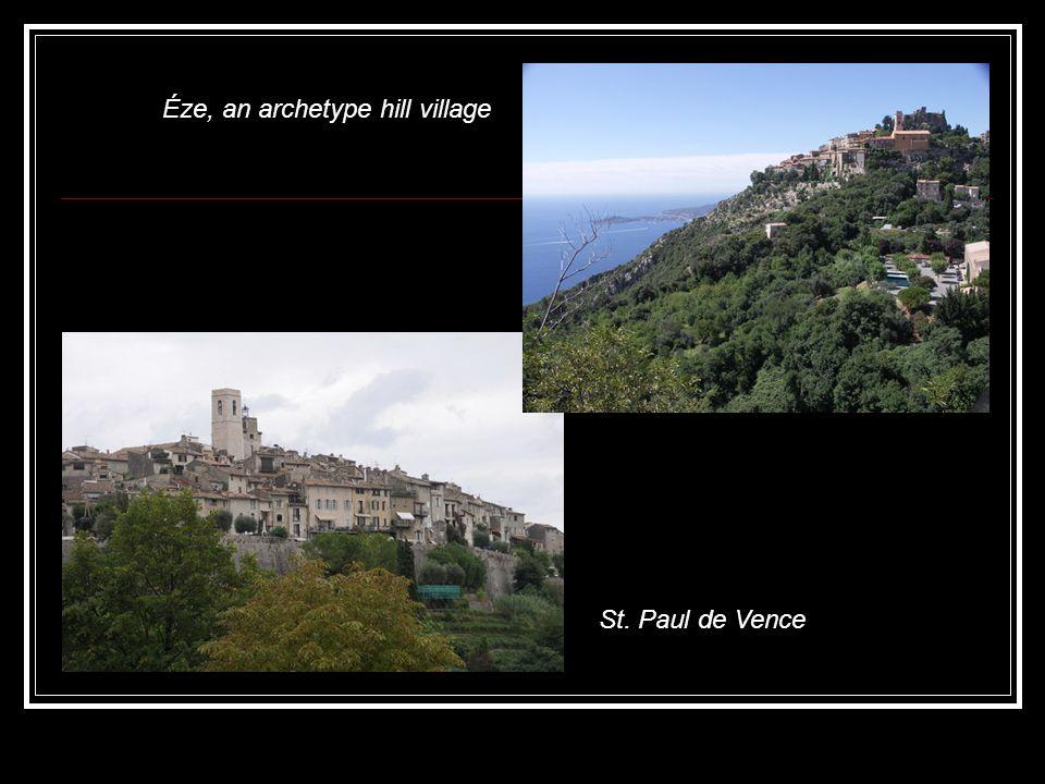 Éze, an archetype hill village St. Paul de Vence