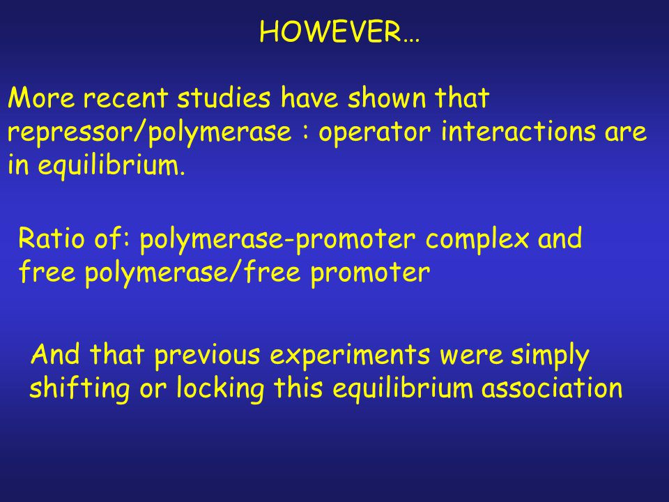 Further evidence showed that repressor and polymerase can bind together to lac operator.