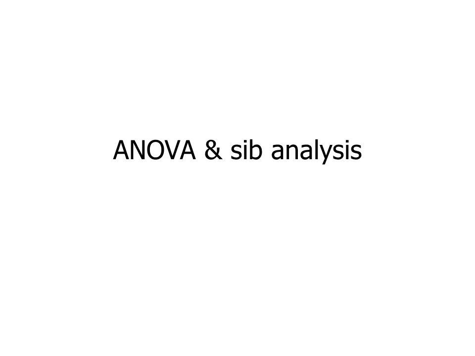 ANOVA & sib analysis