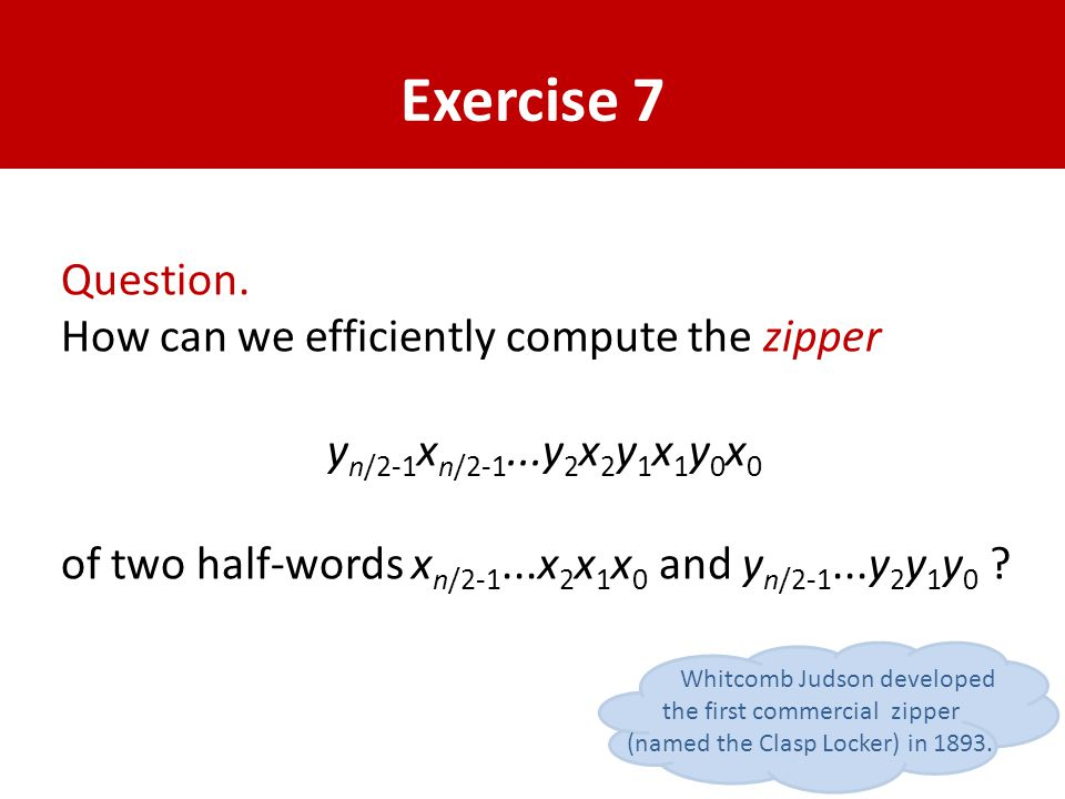 Exercise 7 Question.