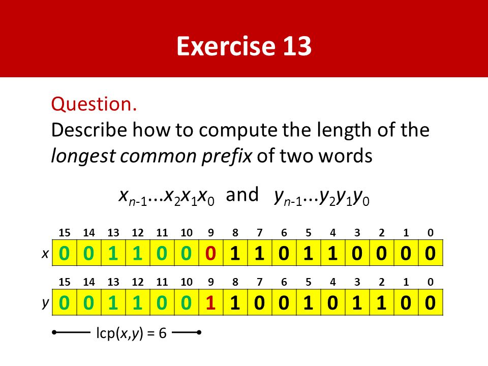 Exercise 13 Question.