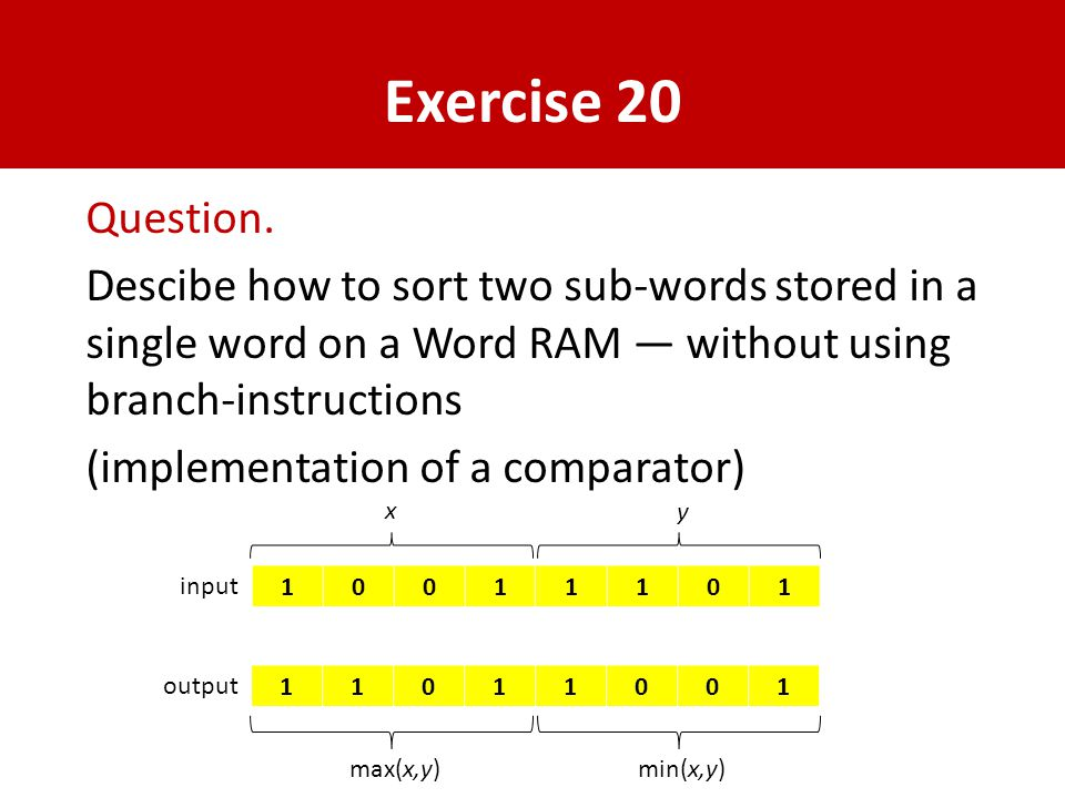 Exercise 20 Question.