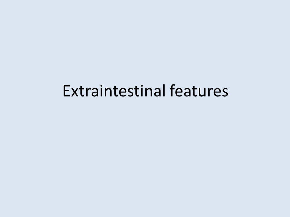 Extraintestinal features