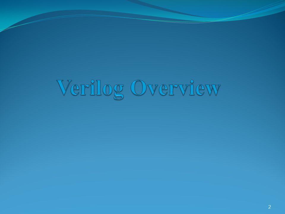 What is Verilog.It is a Hardware Description Language ( HDL ).