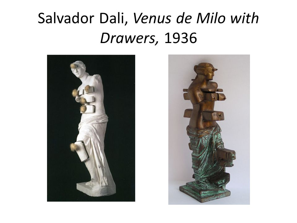Salvador Dali, Venus de Milo with Drawers, 1936