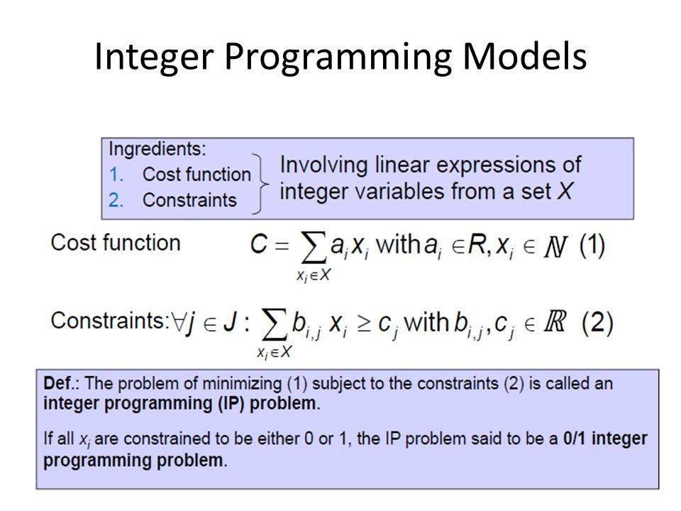 Integer Programming Models 11