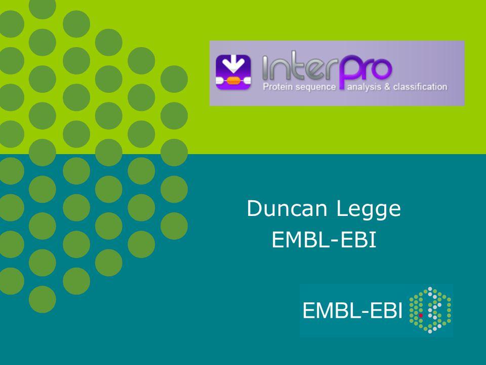 Duncan Legge EMBL-EBI