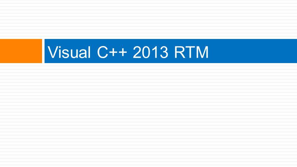 Visual C++ 2013 RTM