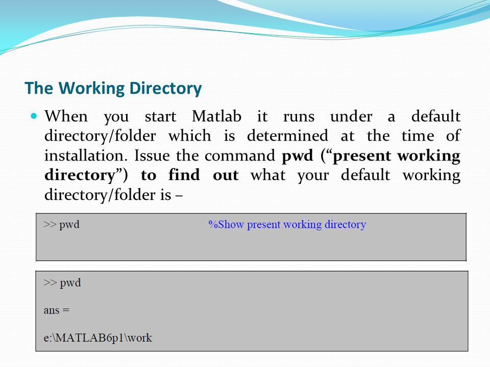 Programming in Matlab contd..