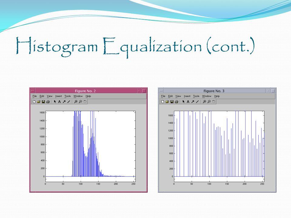 Histogram Equalization (cont.)