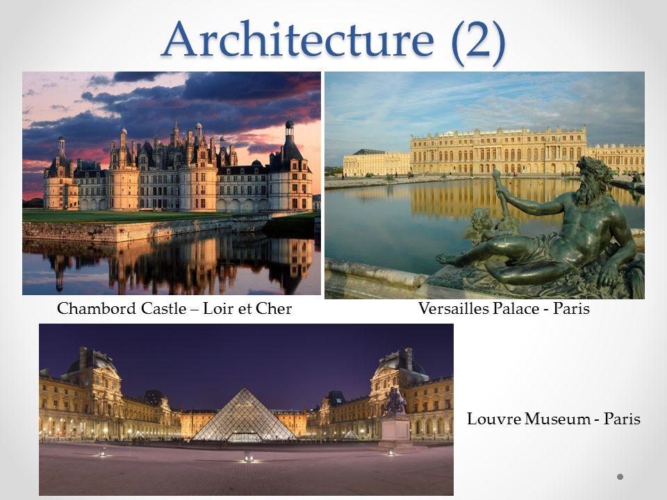 Architecture (2) Versailles Palace - Paris Chambord Castle – Loir et Cher Louvre Museum - Paris
