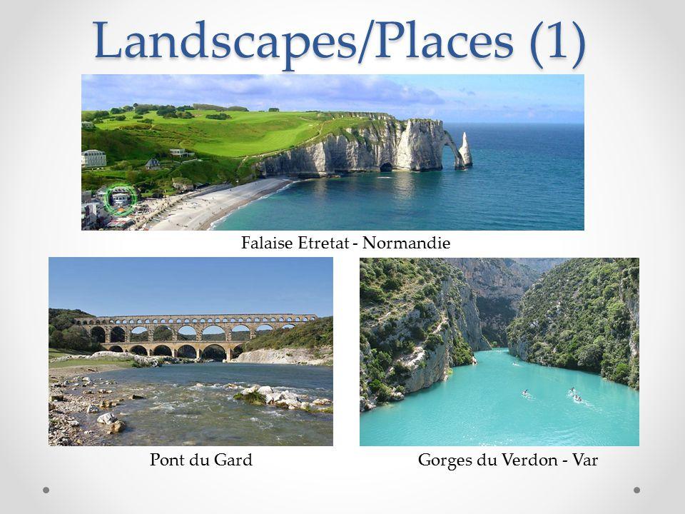 Landscapes/Places (1) Falaise Etretat - Normandie Pont du GardGorges du Verdon - Var