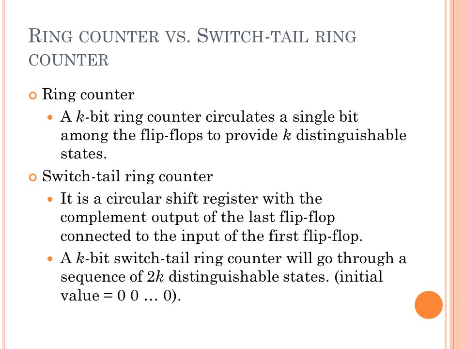 R ING COUNTER VS.
