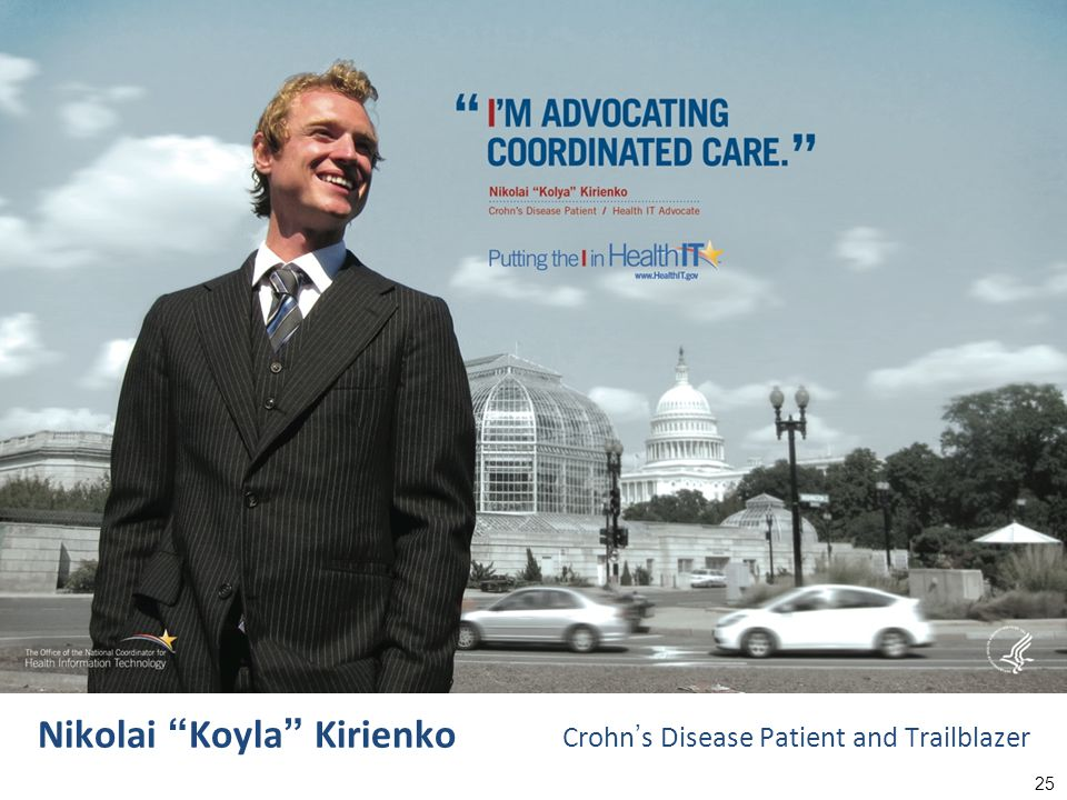 25 Nikolai Koyla Kirienko Crohn ' s Disease Patient and Trailblazer
