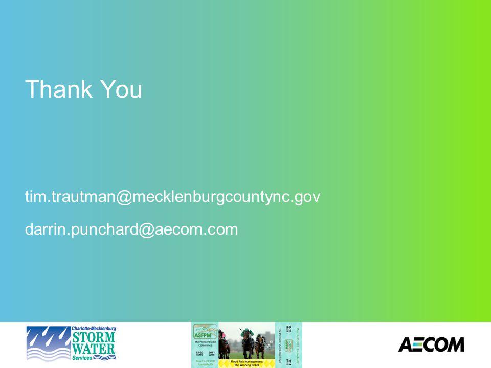 Thank You tim.trautman@mecklenburgcountync.gov darrin.punchard@aecom.com