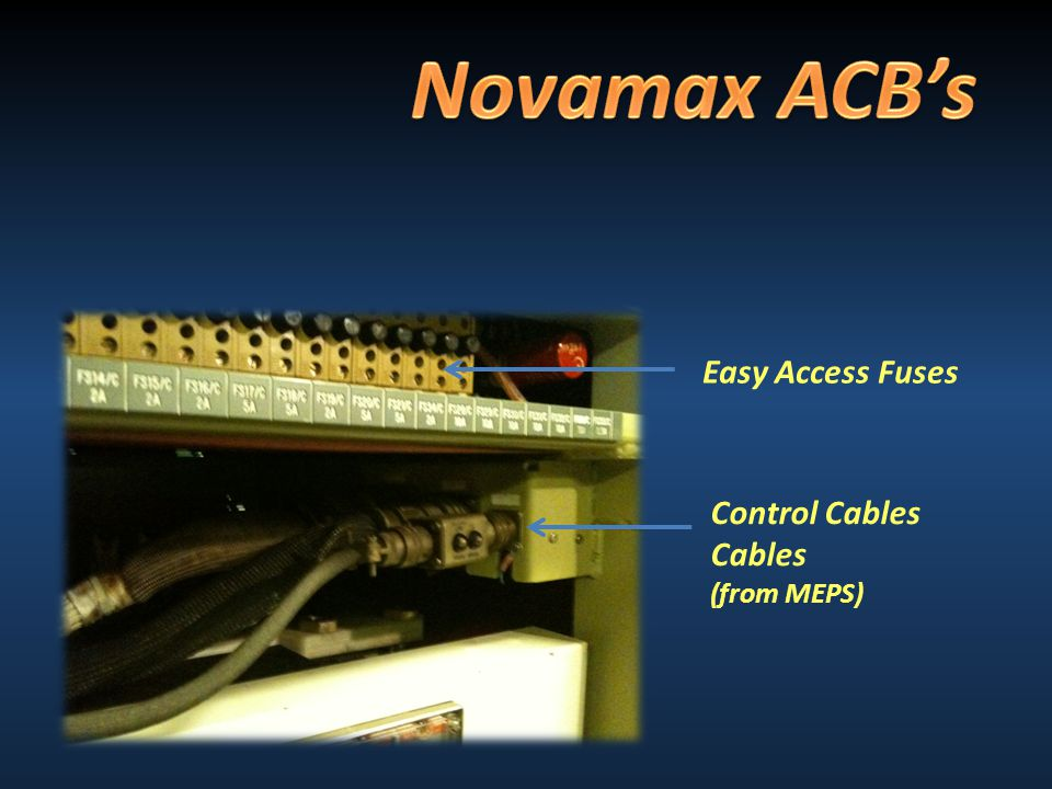 Control Cables Cables (from MEPS) Easy Access Fuses
