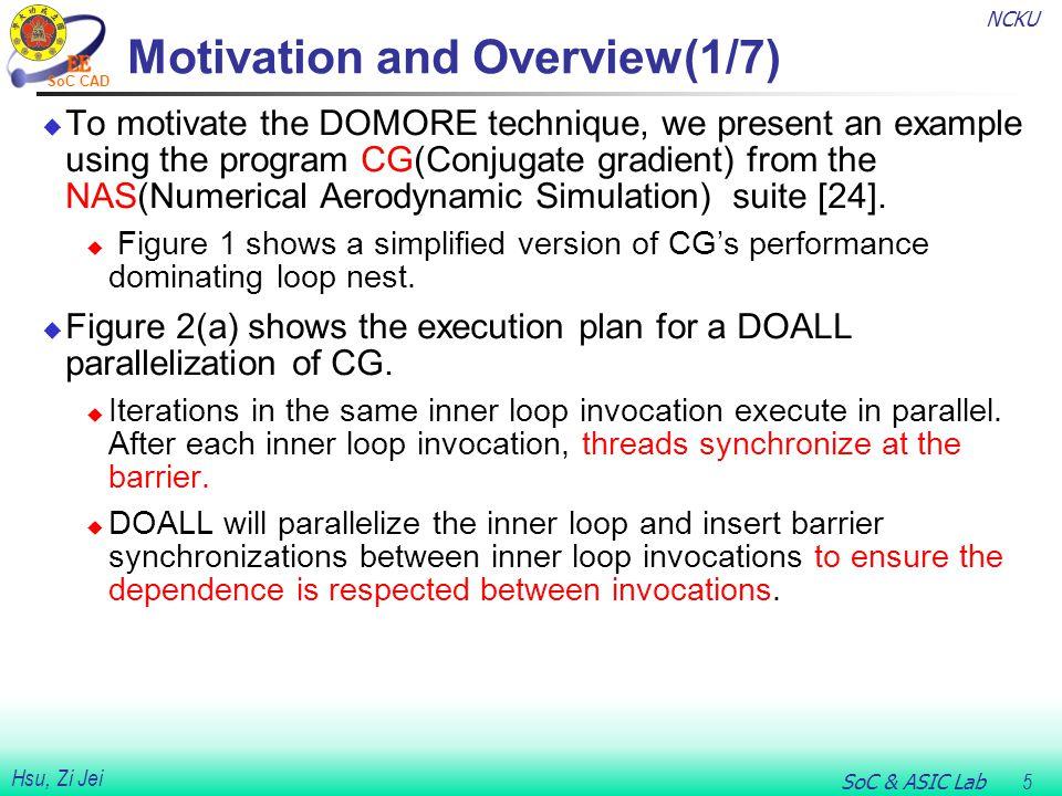 NCKU SoC & ASIC Lab 16 Hsu, Zi Jei SoC CAD Runtime Synchronization(5/8)