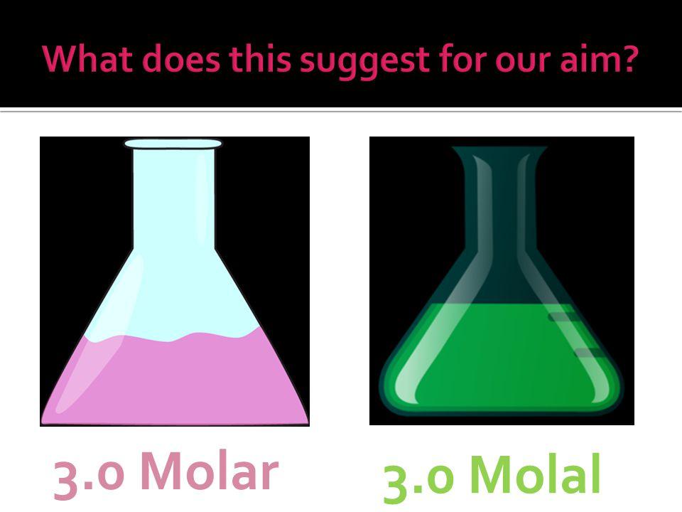 3.0 Molar 3.0 Molal
